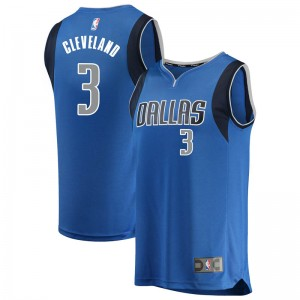 Fanatics Branded Dallas Mavericks Swingman Blue Antonius Cleveland Fast Break Jersey - Icon Edition - Youth