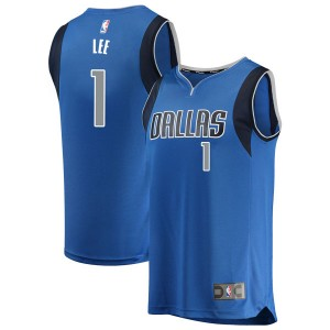 Fanatics Branded Dallas Mavericks Swingman Blue Courtney Lee Fast Break Jersey - Icon Edition - Men's