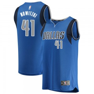 Fanatics Branded Dallas Mavericks Swingman Blue Dirk Nowitzki Fast Break Jersey - Icon Edition - Youth
