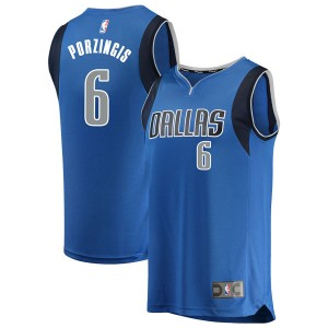 Fanatics Branded Dallas Mavericks Swingman Blue Kristaps Porzingis Fast Break Jersey - Icon Edition - Youth