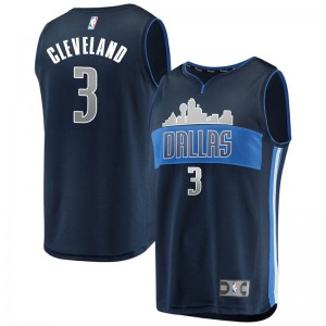 Fanatics Branded Dallas Mavericks Swingman Navy Antonius Cleveland Fast Break Jersey - Statement Edition - Youth