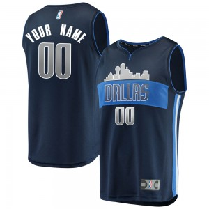 Fanatics Branded Dallas Mavericks Swingman Navy Custom Fast Break Jersey - Statement Edition - Men's