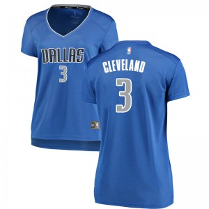 Fanatics Branded Dallas Mavericks Swingman Royal Antonius Cleveland Fast Break Jersey - Icon Edition - Women's