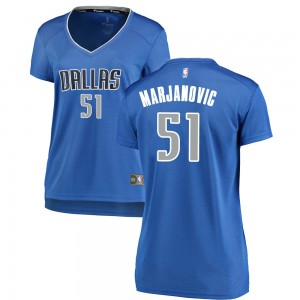 Fanatics Branded Dallas Mavericks Swingman Royal Boban Marjanovic Fast Break Jersey - Icon Edition - Women's