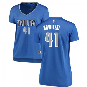 Fanatics Branded Dallas Mavericks Swingman Royal Dirk Nowitzki Fast Break Jersey - Icon Edition - Women's