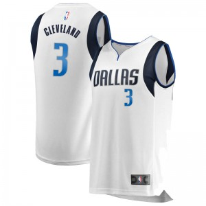 Fanatics Branded Dallas Mavericks Swingman White Antonius Cleveland Fast Break Jersey - Association Edition - Youth
