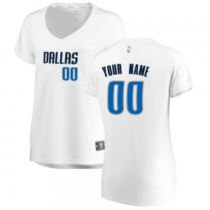Fanatics Branded Dallas Mavericks Swingman White Custom Fast Break Jersey - Association Edition - Women's