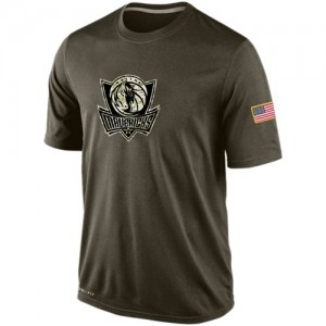Nike Dallas Mavericks Olive Salute To Service KO Performance Dri-FIT T-Shirt - Men's