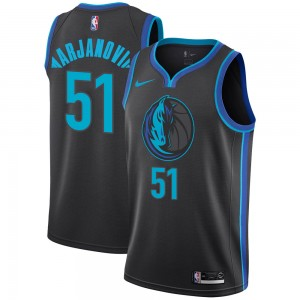 Nike Dallas Mavericks Swingman Anthracite Boban Marjanovic 2018/19 Jersey - City Edition - Men's