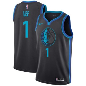 Nike Dallas Mavericks Swingman Anthracite Courtney Lee 2018/19 Jersey - City Edition - Youth