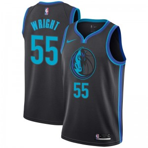 Nike Dallas Mavericks Swingman Anthracite Delon Wright 2018/19 Jersey - City Edition - Men's