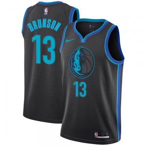 Nike Dallas Mavericks Swingman Anthracite Jalen Brunson 2018/19 Jersey - City Edition - Men's