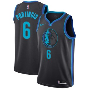 Nike Dallas Mavericks Swingman Anthracite Kristaps Porzingis 2018/19 Jersey - City Edition - Youth