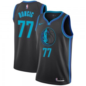 Dallas Mavericks Swingman Anthracite Luka Doncic 2018/19 Jersey - City Edition - Men's
