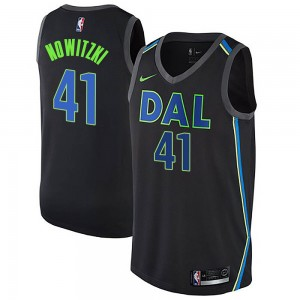 Nike Dallas Mavericks Swingman Black Dirk Nowitzki Jersey - City Edition - Men's