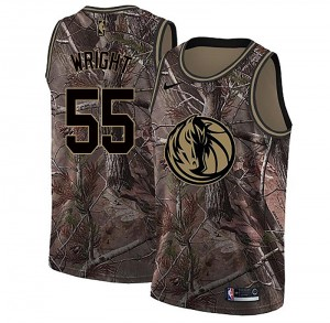 Nike Dallas Mavericks Swingman Camo Delon Wright Realtree Collection Jersey - Men's