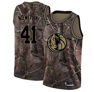 Nike Dallas Mavericks Swingman Camo Dirk Nowitzki Realtree Collection Jersey - Youth