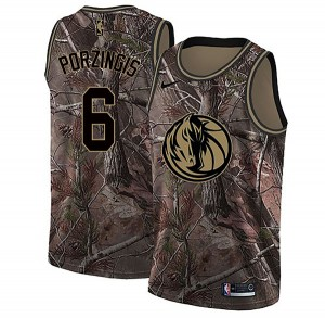 Nike Dallas Mavericks Swingman Camo Kristaps Porzingis Realtree Collection Jersey - Men's