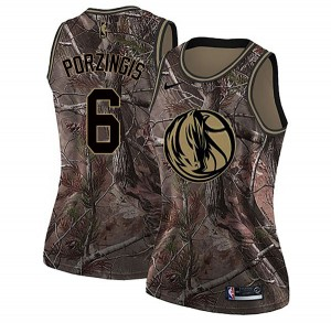 Nike Dallas Mavericks Swingman Camo Kristaps Porzingis Realtree Collection Jersey - Women's