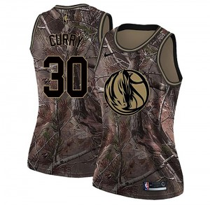 Nike Dallas Mavericks Swingman Camo Seth Curry Realtree Collection Jersey - Women's