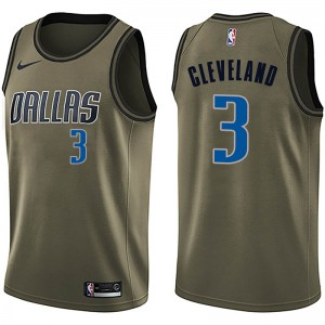 Nike Dallas Mavericks Swingman Green Antonius Cleveland Salute to Service Jersey - Men's