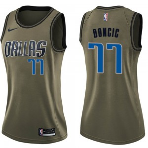 Nike Dallas Mavericks Swingman Green Luka Doncic Salute to Service Jersey - Women's