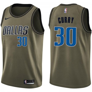 Nike Dallas Mavericks Swingman Green Seth Curry Salute to Service Jersey - Youth
