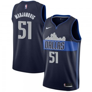Nike Dallas Mavericks Swingman Navy Boban Marjanovic Jersey - Statement Edition - Men's