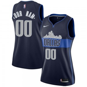 Nike Dallas Mavericks Swingman Navy Custom Jersey - Statement Edition - Women's