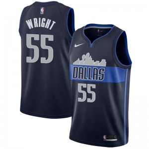 Nike Dallas Mavericks Swingman Navy Delon Wright Jersey - Statement Edition - Men's