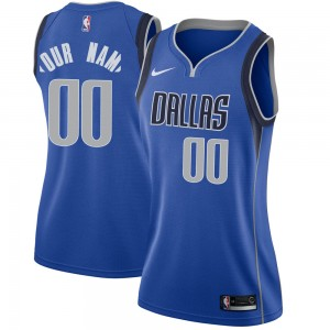 Nike Dallas Mavericks Swingman Royal Custom Jersey - Icon Edition - Women's