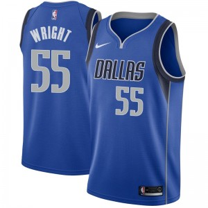 Nike Dallas Mavericks Swingman Royal Delon Wright Jersey - Icon Edition - Men's