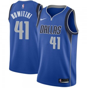 Nike Dallas Mavericks Swingman Royal Dirk Nowitzki Jersey - Icon Edition - Men's