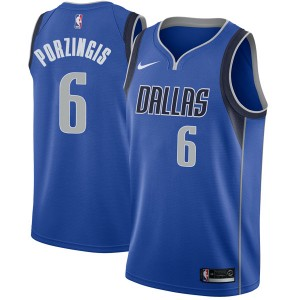 Nike Dallas Mavericks Swingman Royal Kristaps Porzingis Jersey - Icon Edition - Men's
