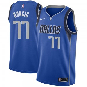 Nike Dallas Mavericks Swingman Royal Luka Doncic Jersey - Icon Edition - Men's