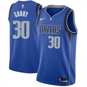 Nike Dallas Mavericks Swingman Royal Seth Curry Jersey - Icon Edition - Youth