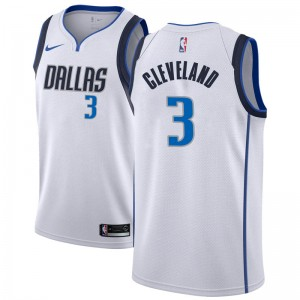 Nike Dallas Mavericks Swingman White Antonius Cleveland Jersey - Association Edition - Youth