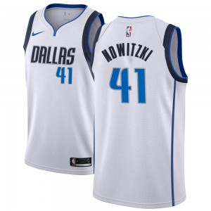 Nike Dallas Mavericks Swingman White Dirk Nowitzki Jersey - Association Edition - Youth