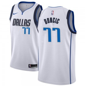 Dallas Mavericks Swingman White Luka Doncic Jersey - Association Edition - Men's