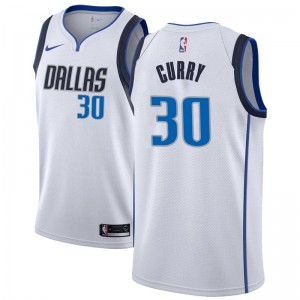 Nike Dallas Mavericks Swingman White Seth Curry Jersey - Association Edition - Youth