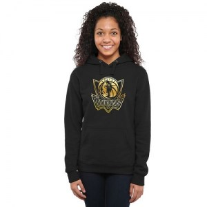 Dallas Mavericks Gold Collection Ladies Pullover Hoodie - Black - Women's