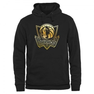 Dallas Mavericks Gold Collection Pullover Hoodie - Black - Men's